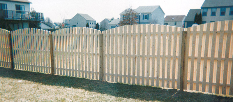 Custom Built Wood Fence Supplies Delaware